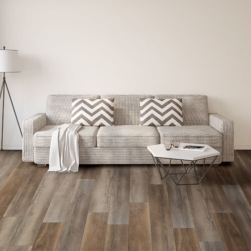 Sofa on vinyl floor | Floors by Roberts