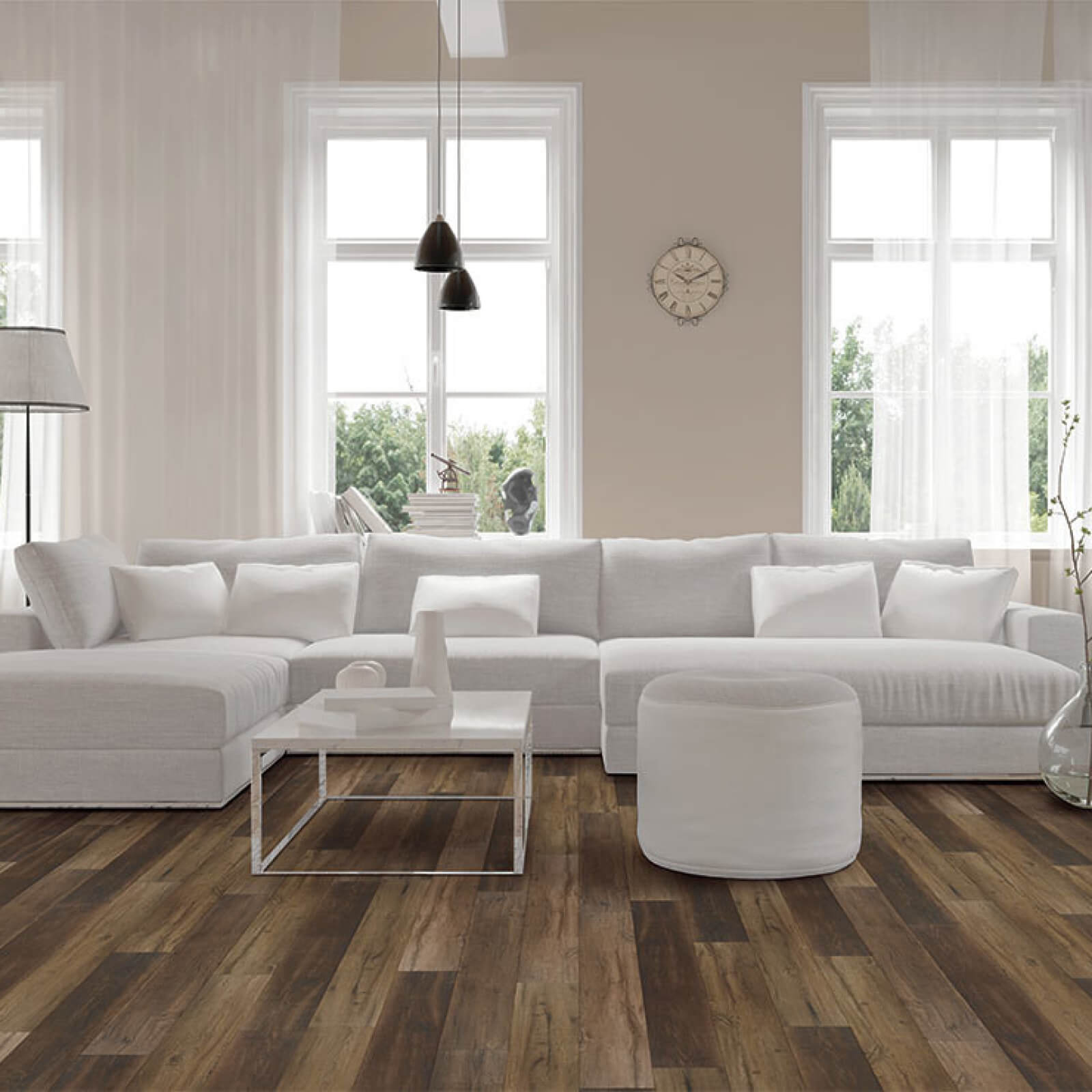 White interior | Floors by Roberts