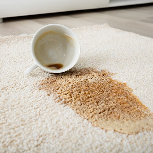 Coffee spill on area rug | Floors by Roberts