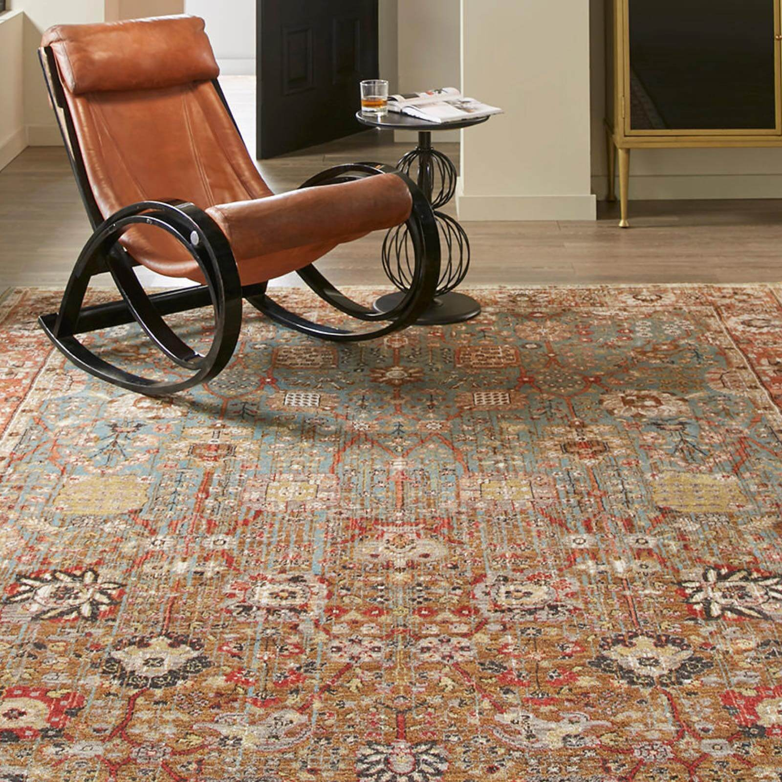 Armchair on Area Rug | Floors by Roberts