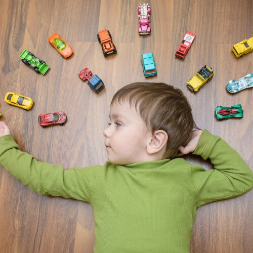 Kid with toy cars | Floors by Roberts
