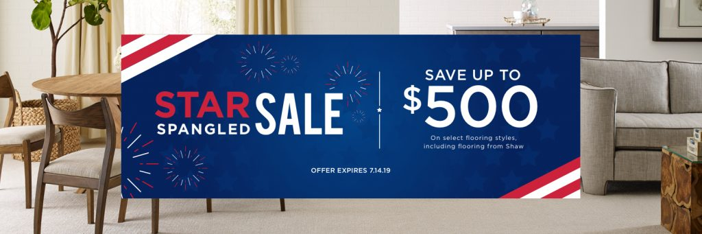 Star spangled sale banner | Floors by Roberts