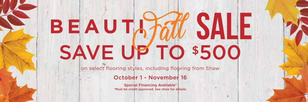 Beautifall sale banner | Floors by Roberts