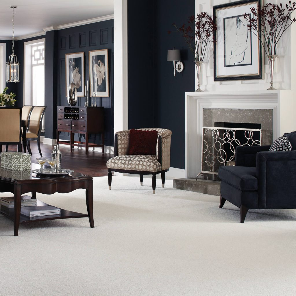 White Carpet in Living room | Floors by Roberts