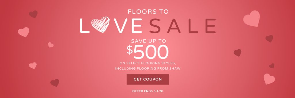 Floors to love sale banner | Floors by Roberts