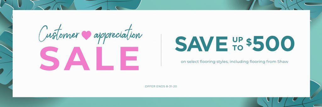 Customer Appreciation Sale | Floors by Roberts